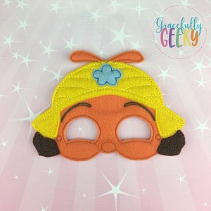 BB Buzz Mask Embroidery Design - 5x7 Hoop or Larger