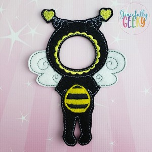 Girl Bee Costume Dress Up Outfit ONLY - Embroidery Design 5x7 hoop or larger