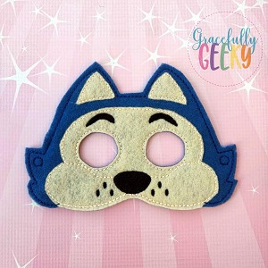 Benny Mask Embroidery Design - 5x7 Hoop or Larger