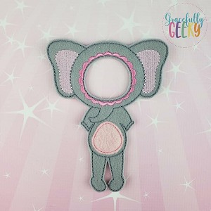 Girl Elephant Costume Dress Up Outfit ONLY - Embroidery Design 5x7 hoop or larger