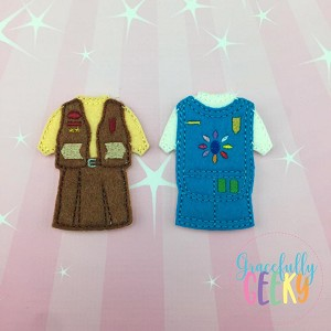 Brownie and Daisy Costume Dress Up Outfit ONLY - Embroidery Design