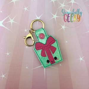 Kawaii Present Snap Keychain ITH Embroidery Design - 5x7 Hoop or Larger