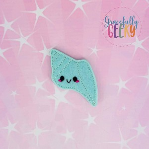 Kawaii seashell 4 Feltie ITH Embroidery Design 4x4 hoop (and larger)