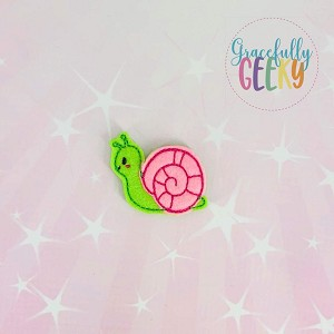 Kawaii Snail  Feltie ITH Embroidery Design 4x4 hoop (and larger)