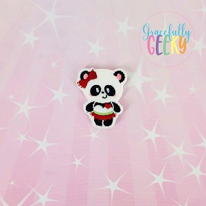 Panda 2 Feltie ITH Embroidery Design 4x4 hoop (and larger)