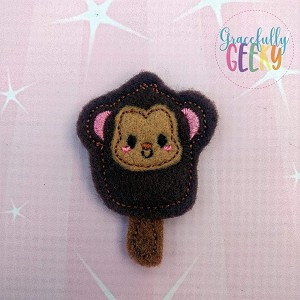 Popsicle Monkey Set ITH Embroidery Design 4x4 hoop (and larger)