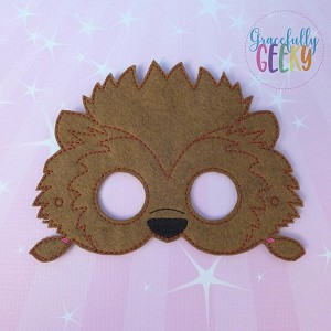 HT Winnie Mask Embroidery Design - 5x7 Hoop or Larger