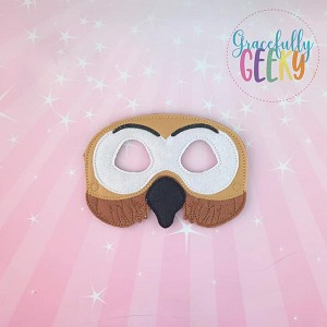 Owl Mask Embroidery Design - 5x7 Hoop or Larger