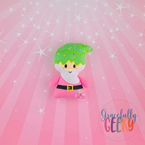 Gnome Boy Stuffed Doll Embroidery Design - 5x7 Hoop or Larger