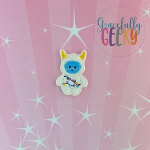 Candy Land Crew Yeti Feltie ITH Embroidery Design 4x4 hoop (and larger)