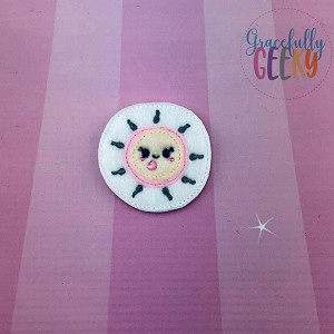 Egg Cell Feltie ITH Embroidery Design 4x4 hoop (and larger)