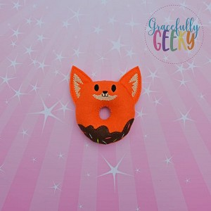 Fox Donut Stuffie Embroidery Design - 4x4 Hoop or Larger