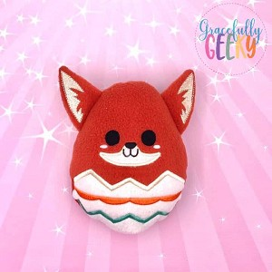 Fox Easter Egg Stuffie Embroidery Design - 5x7 Hoop or Larger