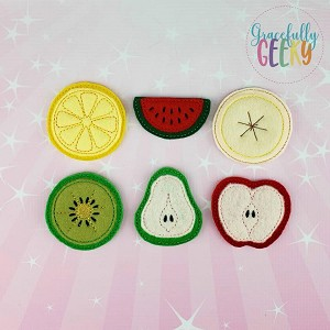Fruit Slices ITH Embroidery Design 4x4 hoop (and larger)  Release: Nov26 October W1
