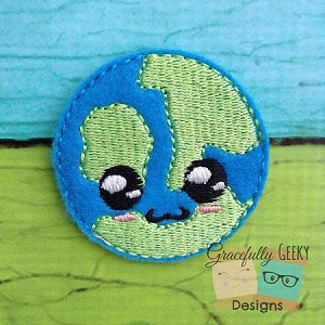 Earth Cutie Feltie Embroidery design