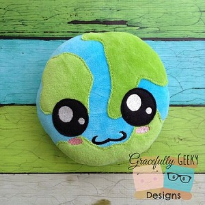 Earth Stuffie Embroidery Design