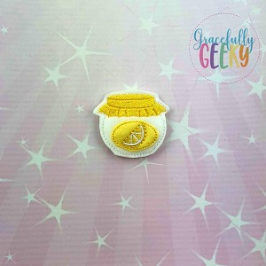 Lemon Jam Feltie ITH Embroidery Design 4x4 hoop (and larger)