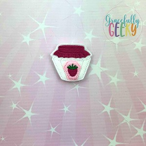 Raspberry Jam Feltie ITH Embroidery Design 4x4 hoop (and larger)