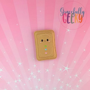 Gingerbread Poptart  Embroidery Design - 4x4 Hoop or Larger