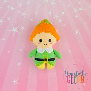 Green Elf Stuffed Doll Embroidery Design - 5x7 Hoop or Larger