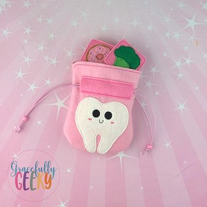 Happy Tooth Sad Tooth Game Drawstring Bag Embroidery Design - 5x7 Hoop or Larger Release: Dec14 DecW1