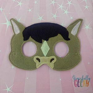 Horse Mask Embroidery Design - 5x7 Hoop or Larger