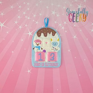 Candy Igloo Countdown to Christmas Embroidery Design