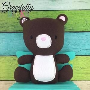 Bear 2 Stuffie Embroidery Design - 5x7 Hoop or Larger