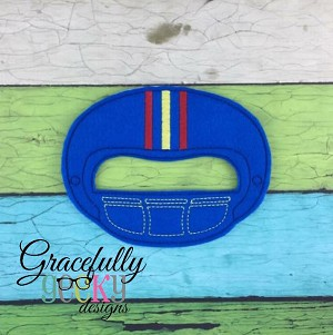 Football Mask  Embroidery Design - 5x7 Hoop or Larger
