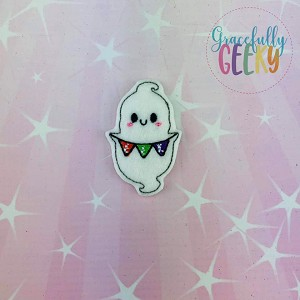 Little Ghost EEK Feltie ITH Embroidery Design 4x4 hoop (and larger)