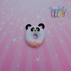 Panda Donut Stuffie Embroidery Design - 4x4 Hoop or Larger