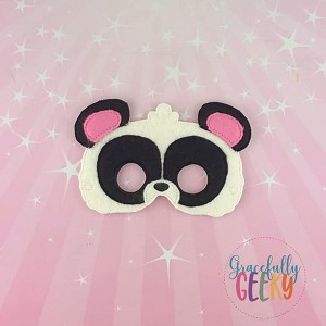 Panda Mask Embroidery Design - 5x7 Hoop or Larger