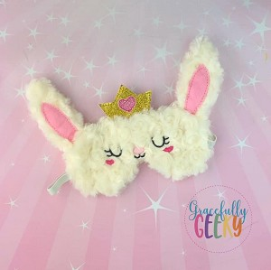 Bunny Sleep Mask Embroidery Design - 5x7 Hoop or Larger