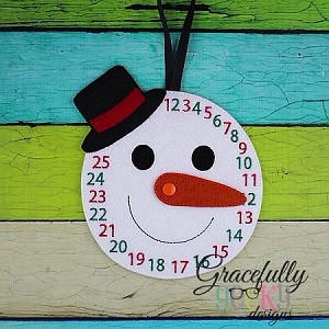 Countdown To Christmas Embroidery Design - 5x7 Hoop or Larger