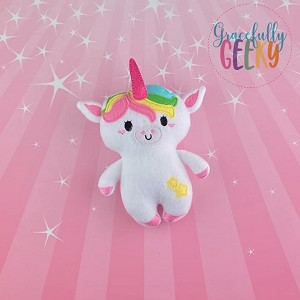 Unicorn Stuffed Doll Embroidery Design - 5x7 Hoop or Larger