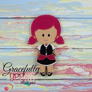 Victoria Dress up Doll - Embroidery Design 5x7 hoop or larger