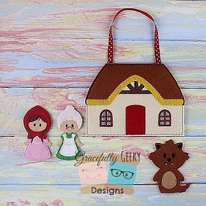 Little Red Busy Bag Embroidery Design - 5x7 Hoop or Larger