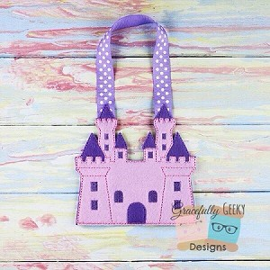 Castle Goodie Bag Embroidery Design - 5x7 Hoop or Larger