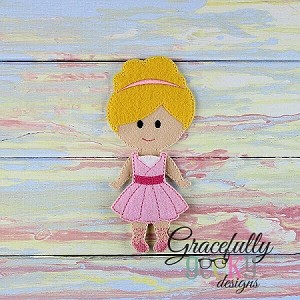 Angelina Dress up Doll - Embroidery Design 5x7 hoop or larger