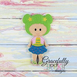Celia Dress up Doll - Embroidery Design 5x7 hoop or larger