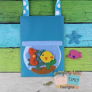 Fish Tank Set Embroidery Design - 5x7 Hoop or Larger