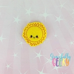 Kawaii Sun Feltie ITH Embroidery Design 4x4 hoop (and larger)