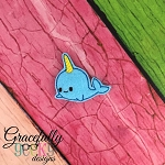 Narwhal Feltie ITH Embroidery Design 4x4 hoop (and larger)