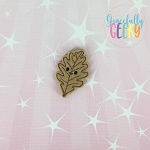 Kawaii Leaf 1 Feltie ITH Embroidery Design 4x4 hoop (and larger)