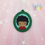 Little Boy 2 ornament Embroidery Design 4x4 hoop and up