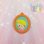 Little Girl 4 ornament Embroidery Design 4x4 hoop and up