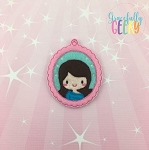 Little Girl 1 ornament Embroidery Design 4x4 hoop and up