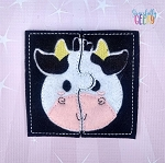 Cow Toddler 4x4 Hoop Puzzle Embroidery Design