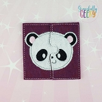 Panda Toddler 4x4 Hoop Puzzle Embroidery Design