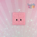 Pig Toddler 4x4 Hoop Puzzle Embroidery Design